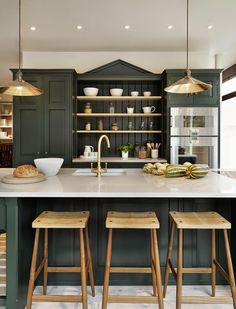 My Sweet Savannah: ~favorite green kitchens~{with paint colors}