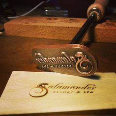 This type of makers mark is designed as a hand held, flame heated, branding iron allowing you to make your mark on wood, leather, or other