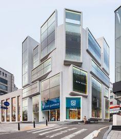 MVRDV, Chungha Building, edificio a uso misto lungo la via Chungha, Gangnam, Seoul 2013