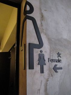 toilet minimal sign design - Google Search