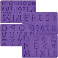 Letters/Numbers Fondant and Gum Paste Molds - Wilton