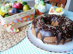 Fotorecept: Veľkonočný veniec Pudding, Cake, Desserts, Food, Tailgate Desserts, Pie, Puddings, Kuchen, Dessert