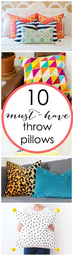 Great throw pillows some DIY some with links to purchase! Great round up
