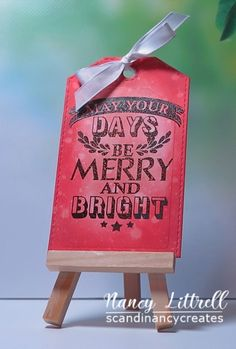scandinancy creates: 25 Days of Christmas Tags 2018 by Tracy 25 Days Of Christmas, Christmas Tag, Christmas Ornaments, Merry, Seasons, Holidays, Tags, Create, Holiday Decor