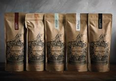 Packaging / Best Awards Font Studio. / Hawthorne Coffee Packaging