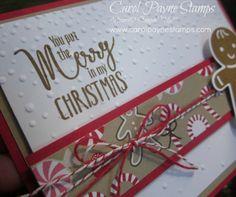 Stampin' Up!, Cookie Cutter Christmas, My Hero, Candy Cane Lane Designer Paper, DIY Crafts, handmade Christmas cards, paper crafts, rubber stamping, http://www.stampinup.net/esuite/home/carolpayne/
