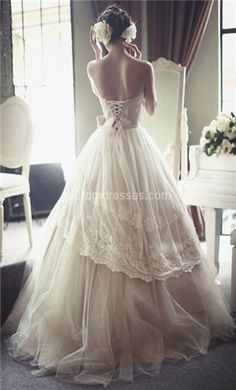 Pretty! Also, the link gives a bunch of wedding dress ideas.