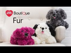 Precious Boutique Fur Yarn Puppies | Red Heart