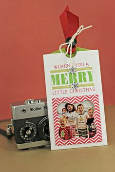Merry Little Christmas Photo Card by Erin Lincoln for Papertrey Ink (September 2013)