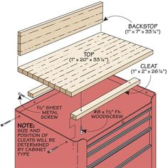 Tool Cabinet Upgrade | Woodsmith Tips. Great way to make the tool cabinet more versatile, maybe add a hinged piece on side for extra workspace.