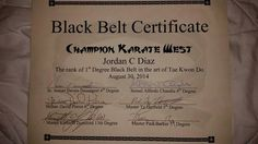 The aikido black belt certificate template lets you create black belt certificate yelopaper Gallery