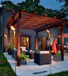 32 Creating Stunning Pergola Decorations Inspiring Ideas, These ideas you are able to try prior to making your pergola design. The ravishing pergola design functions as a home extension. Diy Pergola, Building A Pergola, Modern Pergola, Pergola Ideas, Outdoor Pergola, Pergola Lighting, Cheap Pergola, Wood Pergola, Building Plans