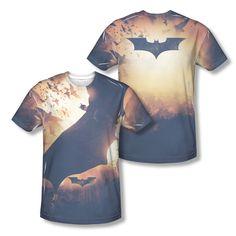 Batman Begins Colony In Flight With Bats Picture Photo Sublimation T-shirt Top  Official Licensed Batman DC Comics Sublimated Front And Back Print #Batman #BruceWayne #BatmanTshirt  #DCComics #JusticeLeague #TheDarkKnight #BatLogo #BatSymbol #BatShield #BatSignal #ChristianBale
