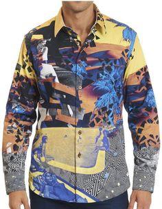 Robert Graham CHAMELEON Exclusive Print Shirt, Style RS161409, Spring 2016 Graphic Shirts, Printed Shirts, Fall Bedroom, Robert Graham, Chameleon, Spring 2016, Men's Style, Cool Shirts, Shirt Style