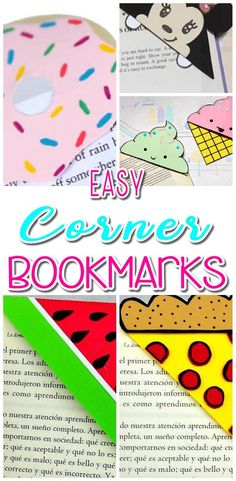 Find the BEST DIY corner bookmarks make from paper. Quick and simple tutorials. Great DIY craft projects for kids. Fun and creative handmade corner bookmarks that everyone will Cute Diy Crafts, Diy Crafts For Kids Easy, Quick Crafts, Easy Arts And Crafts, Paper Crafts For Kids, Fun Diy, Paper Crafting, Decor Crafts, Fun And Easy Diys