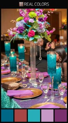 Teal & Purple color palette