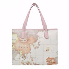 World Map Women Tote Bag – The Real Nomad  Get ready to leave the house with this carry all tote bag. This tote bag features a beautiful map to remind you to get out there and see our amazing world!    This tote bag would be a great gift for a travel lover too!!    www.therealnomad.com