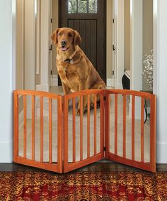 Another great find on #zulily! Arched Solid Wood Adjustable Pet Gate #zulilyfinds