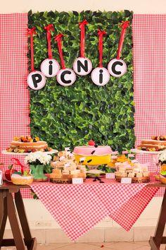 Picnic themed 1st birthday party via Kara's Party Ideas KarasPartyIdeas.com Cake, decor, cupcakes, printables, recipes, games, and more! #picnic #picnicparty (6)