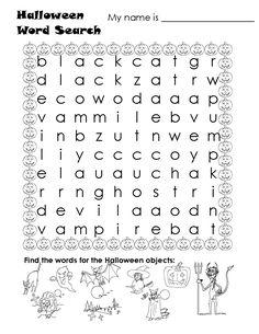 Free Printable Halloween Calendar   printables hide word search home halloween puzzles halloween word ...
