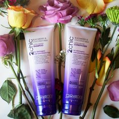 TRYING IT: Giovanni 2chic Ultra-Repair Shampoo & Conditioner with Coconut Milk & Blackberry.  Love that this line (vs their Ultra-Moist) does NOT contain dimethicone!