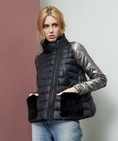 Cool Jackets, Jackets For Women, Winter Jackets, Elisa Cavaletti, Fashion Details, Fashion Design, Down Coat, Fashion Branding, Outfit Sets