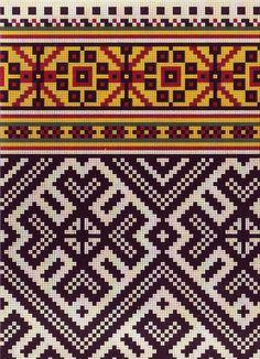latvian ornament Knitting Charts, Knitting Stitches, Baby Knitting, Knitting Patterns, Tapestry Crochet Patterns, Embroidery Patterns, Cross Stitch Patterns, Knitted Mittens Pattern, Graph Design