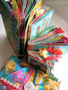 Art Journal Stack by Regina Lord Filofax, Book Crafts, Paper Crafts, Fabric Journals, Art Journals, Art Journal Pages, Journal 3, Altered Book Art, Watercolor Journal