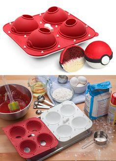 Pokémon pokeball cake mold