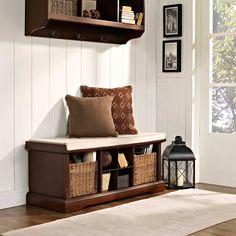 Crosley Brennan Entryway Storage Bench and matching top shelf