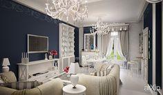 Вилла во Франции.: интерьер, квартира, дом, гостиная, ар-деко, стена, 30 - 50 м2 #interiordesign #apartment #house #livingroom #lounge #drawingroom #parlor #salon #keepingroom #sittingroom #receptionroom #parlour #artdeco #wall #30_50m2 arXip.com