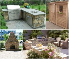 Adding an outdoor kitchen or shed is an excellent way to utilize your outdoor space!