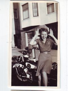 Grandma and her boyfriends Motorcycle 1930's Oakland, CA by Daniel Schmidt Photography.