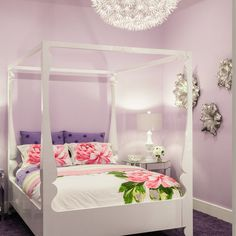 Modern Glamour - contemporary - Kids - Miami - Marilee Bentz Designs, Inc. - like the color of purple on the walls.