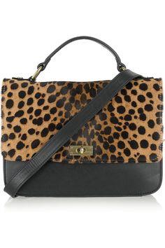 JCrew's edie leopard print calf hair bag