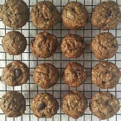 Mini Chocolate Chocolate Chip Banana Bread Muffins