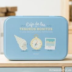 Caja metálica wonder para recuerdos