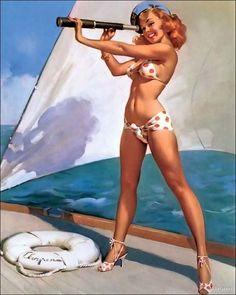 She Sailor pin-up