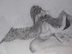 after the battle.. - Sketching by Shreeti Prajapati in Shadows and Light at touchtalent