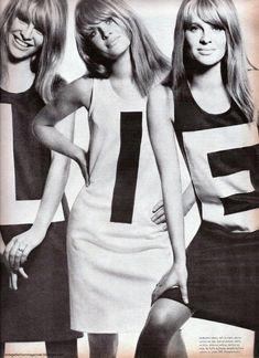 Julie Christie. Triplets style. Not a lie.