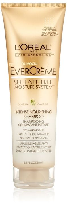 L'Oreal Paris EverCreme Sulfate-Free Moisture System Intense Nourishing Shampoo 8.5 oz. (Pack of 2) -- Find out more at the image link. #hair