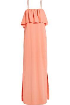 MSGM|Layered crepe maxi dress