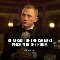 Epic videos, speeches, interviews and movie scenes to inspire you to reach for your dreams Wise Quotes, Quotable Quotes, Great Quotes, Words Quotes, Motivational Quotes, Qoutes, Sayings, James Bond Quotes, Frases Zen