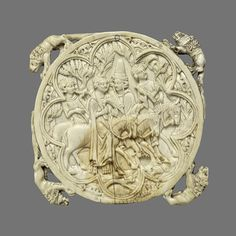 Mirror Back with Falconing Party Elephant Ivory 4 x 4 in. French-possibly made in Paris Heilbrunn Timeline of Art History The Metropolitan Museum of Art Medieval Life, Medieval Art, Objet D'art, Compact Mirror, Old Antiques, French Artists, Middle Ages, Metropolitan Museum, Art History