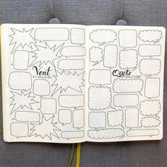 "407 Likes, 12 Comments - Nicole (@bujo_blossoms) on Instagram: ""I finally made a vent page for my new bujo! I decided to also add on a quote page, where I can…"""
