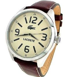 LACOSTE BROWN LEATHER STRAP 50M MENS WATCH - 2010618