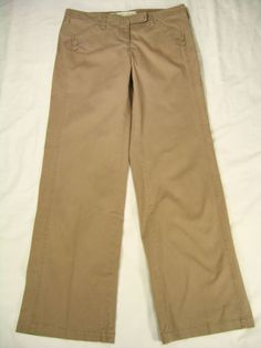 Sitwell Pants Size 8 Anthropologie Wide Leg Casual Tan Beige Womens Chinos in Clothing, Shoes & Accessories, Women's Clothing, Pants | eBay