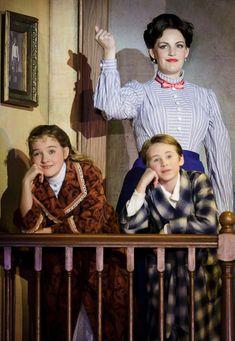Village Theatre | Mary Poppins BT: nice MP blouse and tie nice Jane bathrobe