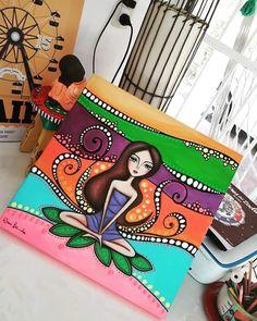 R.Lerda? Indian Art Paintings, Happy Paintings, Madhubani Painting, Dot Art Painting, Buddha Art, Cool Art Drawings, Arte Pop, Whimsical Art, Art Plastique