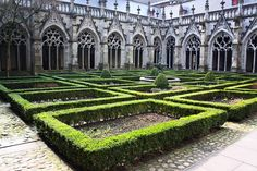 Cloister at Cathedral of Saint Martin in Utrecht, Netherlands #holland